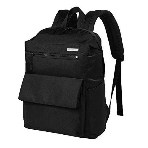 Doppelte Schultertasche-Frau Süße Campusstudent-Taschenfreizeitreise-Computerpaket-Licht Nylon-Rucksack,Black-L