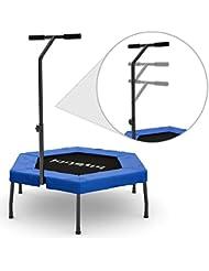 Kinetic Sports Trampolin Fitness Hexagon Trampolin Indoor Trampolin Minitrampolin Sechseckig mit Griff