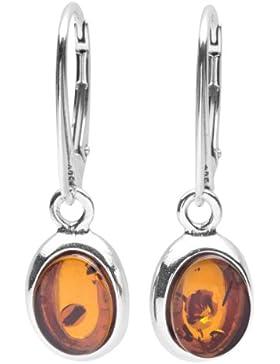 InCollections Damen-Ohrhänger 925/000 Sterlingsilber mit Bernstein 0630260081980