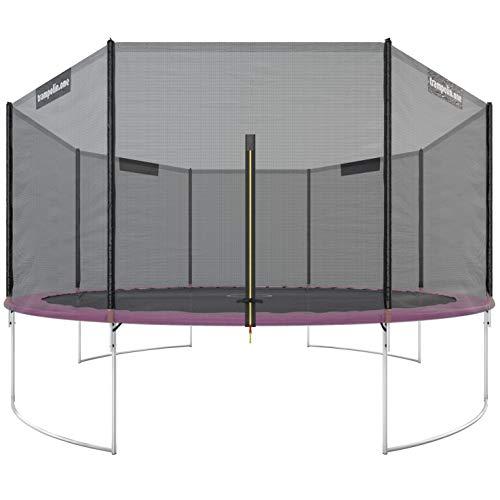 Trampolin.one by Ultrasport Outdoor Trampolin Starter, Kindertrampolin, Gartentrampolin Komplettset inklusive Sprungmatte, Sicherheitsnetz und Randabdeckung, pink, 430 cm