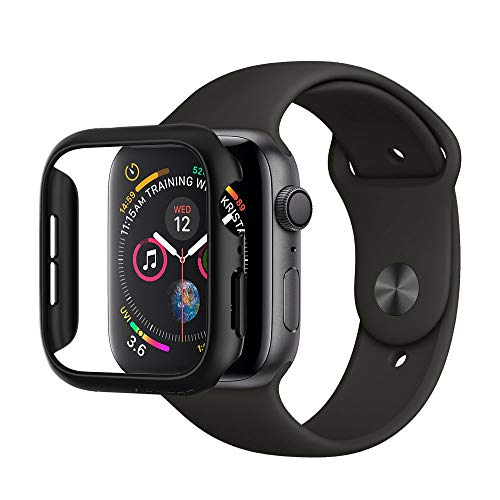 Spigen Apple Watch Hülle, Thin Fit entworfen für Apple Watch 44mm Series 5 / Series 4 (2018) Case - Schwarz