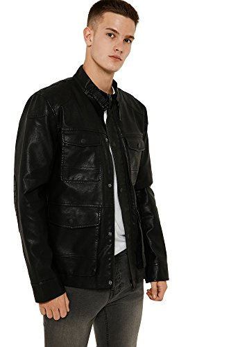 Threadbare Herren Steppjacke Jacke schwarz schwarz Medium Schwarz