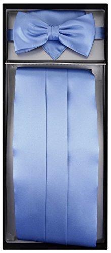 TigerTie - Cummerbund arco fazzoletto cravatta di seta 3 pezzi