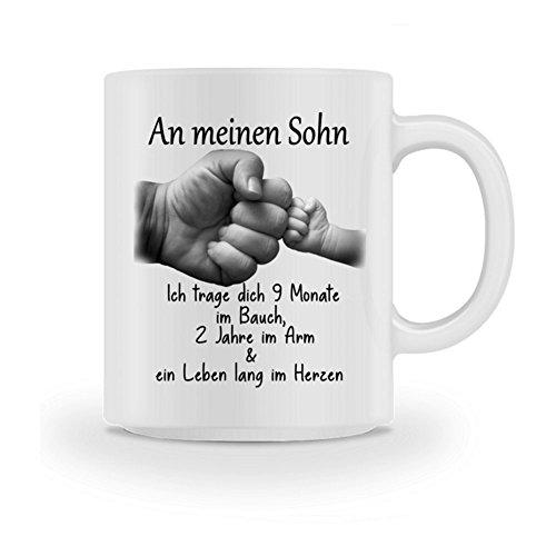 Galeriemode Tasse Geschenk zur Geburt mit Spruch Sohn Mama Familie Weihnachten