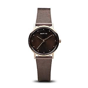 BERING Reloj Analógico para Mujer de Cuarzo con Correa en Acero Inoxidable 13426-265