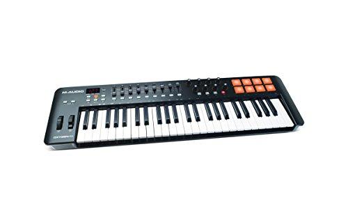 M-Audio Oxygen 49 IV USB MIDI Keyboard Controller mit anschlagdynamischen Tasten, VIP 3.0, Ableton Live Lite, SONiVOX Twist, Xpand2 Inkl.