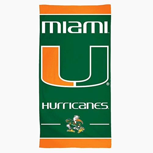 NCAA Miami Hurricanes Fasern Strandtuch, 30x 152,4cm