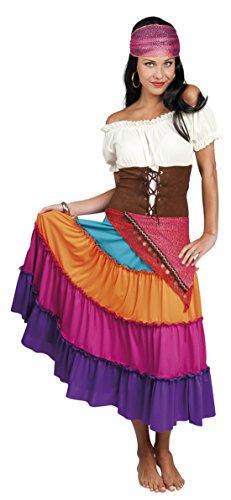 Motto-Party Karneval Kostüm Zigeunerin Set, S/M, Mehrfarbig (Friedhof Halloween Song)