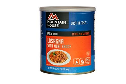 Mountain House # 10 Kann mit Fleisch-Soße-Lasagne (10 - 1 Tasse Portionen)