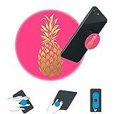 jackeda-Standplatz und Griff für Smartphones und Tablets Phone Kickstand für Jungen und Mädchen-Goldfolie Ananas Rosa