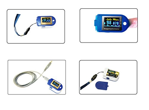 41MyQ41YVbL - BLYL CMS 50D+ OLED USB Finger Pulse Oximeter & Heart Rate Monitor 24hr Memory, Lanyard, USB Cable, Full Analysis Software