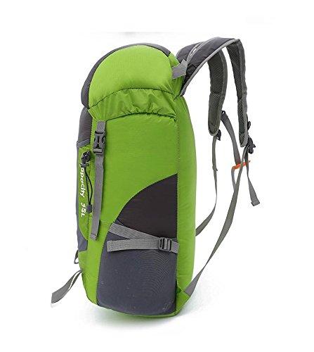 YYY-Pack pelle borsa a tracolla portatile ultra-leggero all'aperto pieghevole alpinismo zaino uomini e donne sport borsa da viaggio , gray Green