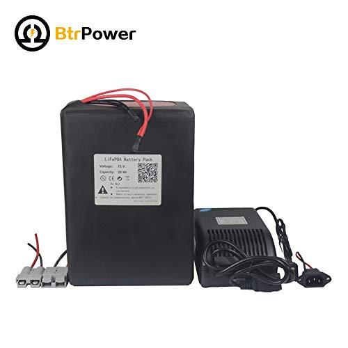 72v 20ah Ebike Batterien für 2000W Elektro-Roller, Lithium-LiFeo4 Akku mit 5A-Ladegerät BMS (Elektro-roller 1500w)