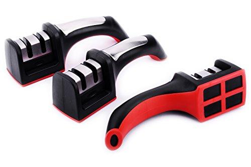 waypower Messer Spitzer, weicher Kunststoff Griff feine und grobe Dual - Stein Maschine Carving
