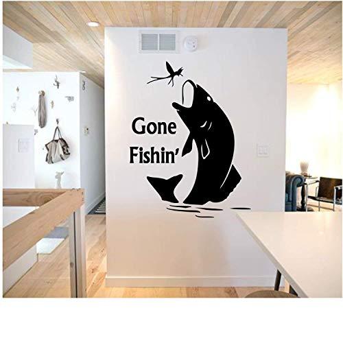 wandaufkleber fische Gone Fishin' Wall Decal -