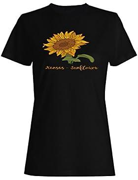 Girasol De Kansas camiseta de las mujeres k960f