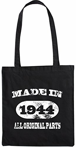 Mister Merchandise Tote Bag Made in 1944 All Original Parts 71 72 Geburtstag Borsa Bagaglio , Colore: Nero Nero
