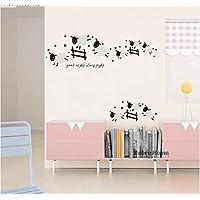 Jumping Sheep Wall Sticker Good Night Sleep Tight Decal Counting Sheep Kids Baby Room Bedroom Nursery 40X120Cm Home Decoration 40X120Cm