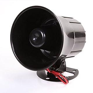 12V Sirene Auto Alarm Police Achtung Fire Laut Horn Lautsprecher Mikrofon Schwarz Alert