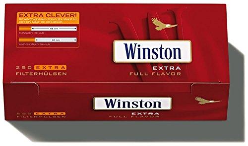 1000 (4x250) Winston EXTRA (Tubos, Tubos de filtros, Tubos de cigarrillos)