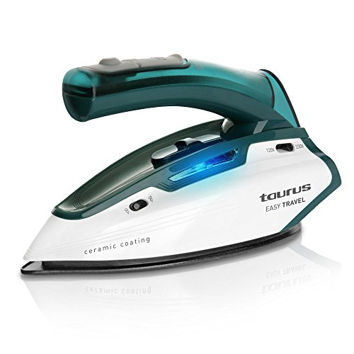 Taurus Easy Travel Plancha viaje, 1100 W, 120, Acero Inoxidable, Verde, Color blanco