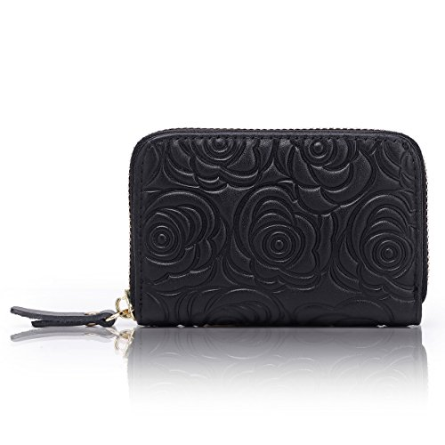 APHISONUK Women RFID Blocking Small Purse Leather Card Wallet Ladies Credit Card Holder Mini Travel Wallet for Girls/Gift Box