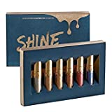 SHINE 6 Farben Wasserdicht Langlebige Flüssige Diamanten Glitzer Liquid Lippenstift Make-Up Lipgloss