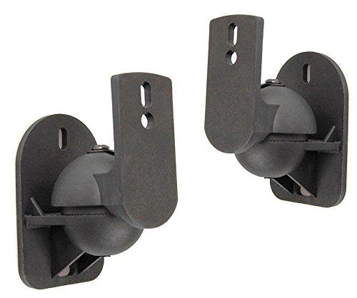 ofi Schwarze Universal-Wandhalterungen für Lautsprecher Boxen Halterung Wandhalter Wand Halter für Teufel Consono Lautsprecher Boxenhalter Boxenhalterung Lautsprecherhalter Lautsprecherhalterung für alle Boxen TOP QUALITÄT Optimale Neig- und Schwenkmechanismus für Höhe und Sehwinkel ()