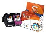 TS-Print Multi-pack Set di 2 cartucce d'inchiostro compatibili con HP 300-XL (20ml XXL) nero black bk + HP-300 XL (18ml XXL) colorata tri-color