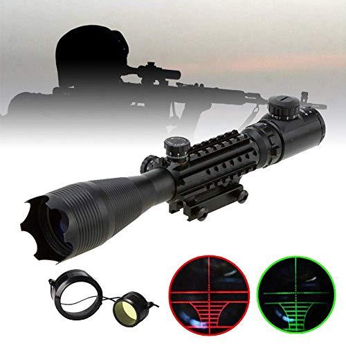 Aufun Zielfernrohr Luftgewehr 22mm Gewehrzielfernrohre mit Montage Schiene Montagen Rot Und Grün Punkt Visier Rifle Scope für Taktische Armbrust Jagd und Sport, 4-16x50EG-11mm