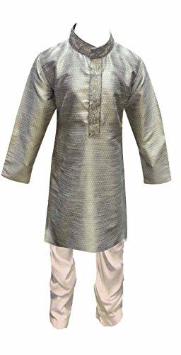 Indian Jungen Sherwani kinder Kurta Churidar Kameez für Bollywood thema & party Kostüm UK 874 - grau, 1 (1 (Männer Für Kostüme Bollywood)