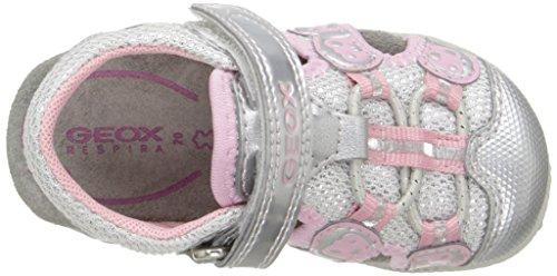 Geox B Roxanne B, Chaussures Marche Bébé Fille Argent (C1007)