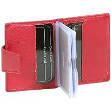rot Ausweismappe Ausweistasche Kreditkartentasche Portmonee LEAS in Echt-Leder