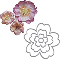 4pcs-grabación en relieve del molde de la flor del metal del modelo de corte Escuela y la plantilla de oficinas Suministros