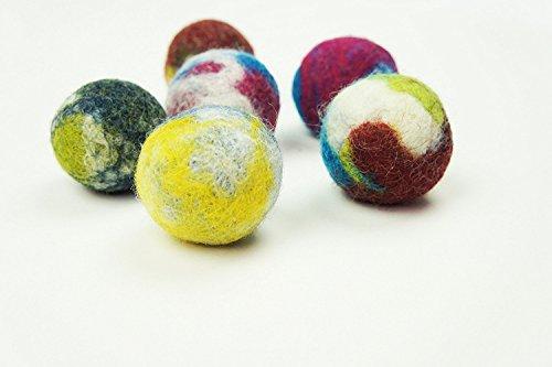 5x Spielbälle / Filzball für Katzen aus Schafwolle / handmade