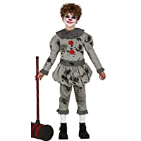 JCHPRODUCTS Child Grey Clown Vintage Costume Size 10-12 years Halloween Fancy Dress