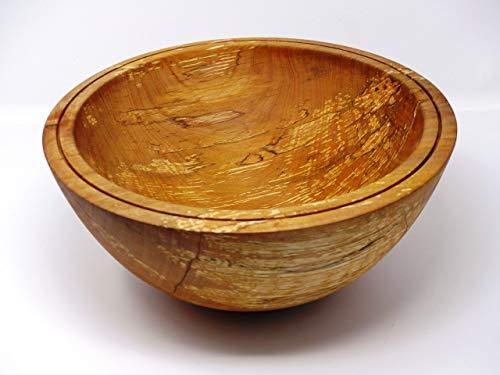 Woodenarts Holzschale Schale Dekoschale Design Snackschale Obstschale Obstkorb Tischdeko Deko rund aus Erlen Holz gestockt handgemacht - gedrechselt - Durchmesser ca. 29 cm - Höhe ca. 12,5 cm