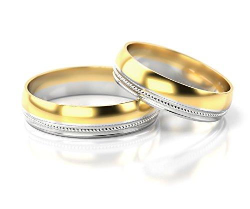 Fedi nuziali oro bianco / oro giallo 585_pd14_s-746