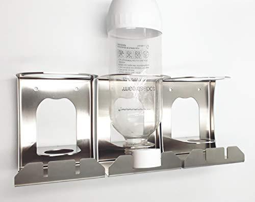 Abtropfhalter kompatibel für KitchenAid Wassersprudler, Sodastream, Wassermaxx Kunststoffflaschen, aus Edelstahl (3)