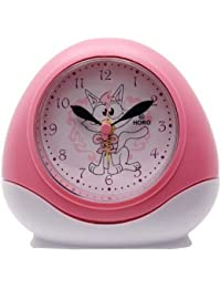 Horo Plastic Metallic Pink Kids Alarm Clock 10.9x5.2x9.9 cm