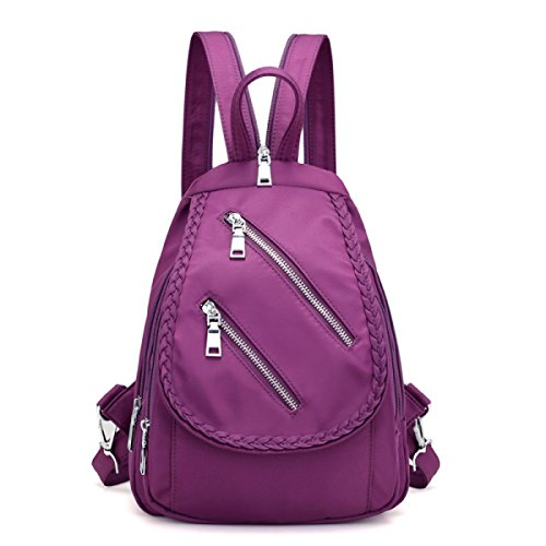 Donne Donne Ladies Zaino Fashion Borsa Nero Ladies Casual Impermeabili Ladies Sport Borse Zaino Viaggio Di Viaggio,Purple-23*12*32cm Purple