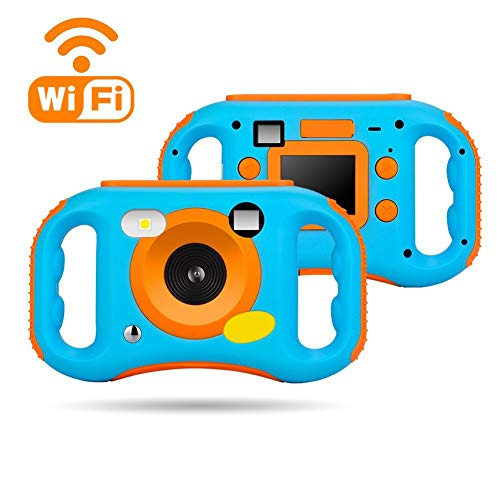 Xwly-DC Digitale WiFi-Kamera für Kinder, 12MP HD Video Camera Recorder mit 2.0 Zoll LCD-Display, 5X Digital Zoom, Flash und Mic Zoom Lcd Flash
