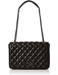 Love Moschino - Borsa Quilted Metallic Pu Nero, Bolso Mujer, Negro (Black), 6x19x29 cm (B x H T)