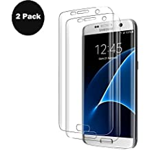Protector de Pantalla para Galaxy S7 Edge, [2-Unidades] Vaboo S7 Edge Cristal Templado Vidrio Templado Alta Definicion sin Burbujas 9H Dureza Perfecto Cristal Templado para Galaxy S7 Edge