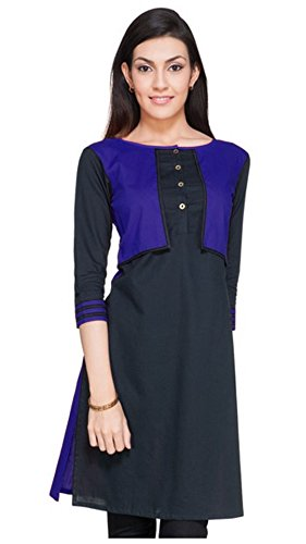 Kurta (Vipul Women's Branded Black & Purple Casual Wear Cotton Free Size Kurti (Best Gift For Mummy Mom Wife Girl Friend, Offers and Sale Discount) )  available at amazon for Rs.177