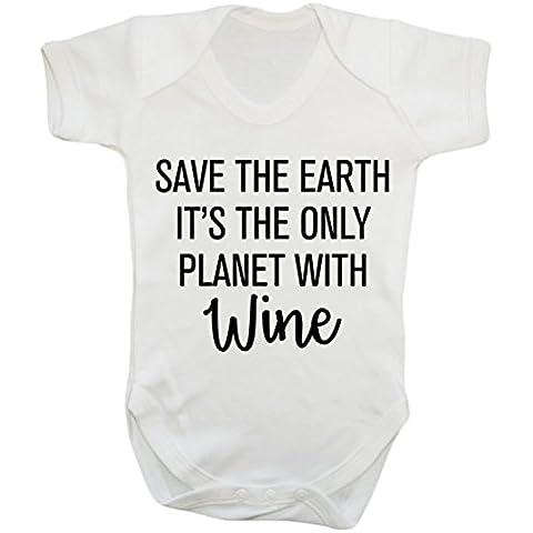 Salvar la Tierra ES LA Única Planeta con vino bebé chaleco Body Bebé