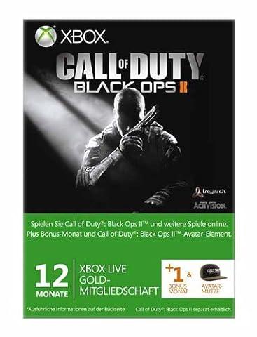 Xbox Live - Gold-Mitgliedschaft 12 + 1 Monate - im Design von Call of Duty: Black Ops 2