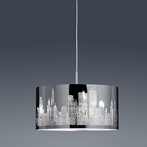 Pendelleuchte aus Metall   Pendellampe mit dekorativem Edelstahl-Laser-Cut   Hängeleuchte aus Metall (Glas-deckenleuchte Cut)