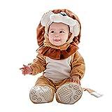 Baby Faschingskostüme Löwe,Unisex Tiere Strampler Baby Spielanzug Halloween Cosplay