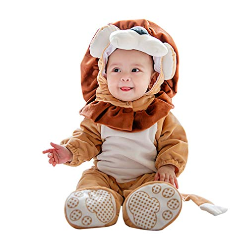 Costume leone neonato,unisex pagliaccetti animali carnevale halloween pagliaccetto pigiama tuta cosplay